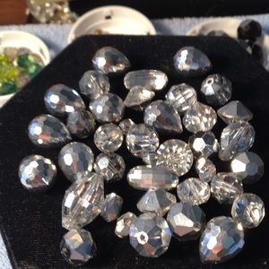 Diff sizes and styles of silver colored beads